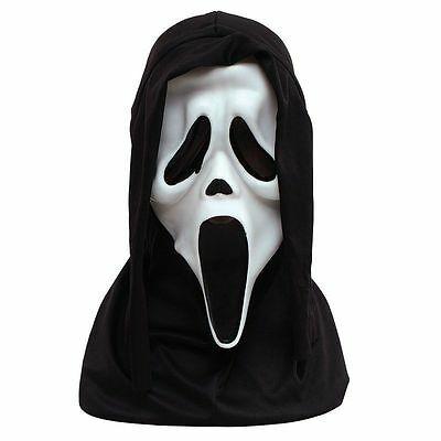Official Howling SCREAM Horror Mask with Hood Halloween Fancy Dress
