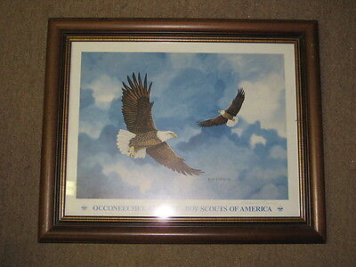 Eagles Flying Occoneechee Council Print,  William D. Rogers artist