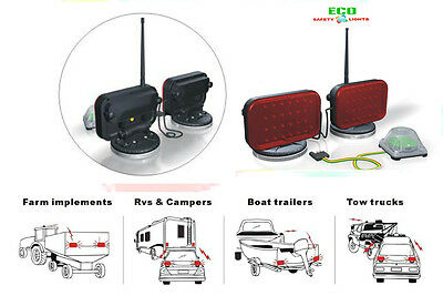 Tw48Lm Red Wireless Led Tow Truck Lights Towing Light Set Magnetic Cordless