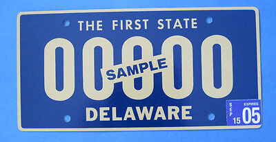 "2005 Delaware ""The First State"" Sample license plate"