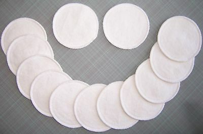 2 Reusable Washable Hemp Organic Cotton Nursing Breast Pads Fleece Breastfeeding