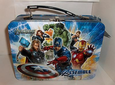 The Avengers`2012`Hulk & Iron-Man`Assemble`Marvel`LARGE`Metal Lunchbox`New`Look