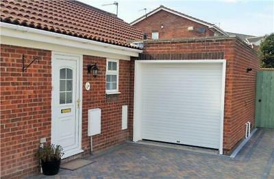 Electric REMOTE CONTROLLED Insulated Roller Shutter GARAGE DOOR including fascia
