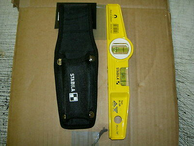 STABILA Strong Magnetic Scaffolders / Boat Level, 81SM AND HOLSTER NEW