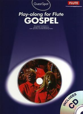 Guest Spot Gospel Play-Along For Flute Learn to Play Sheet Music Book & CD