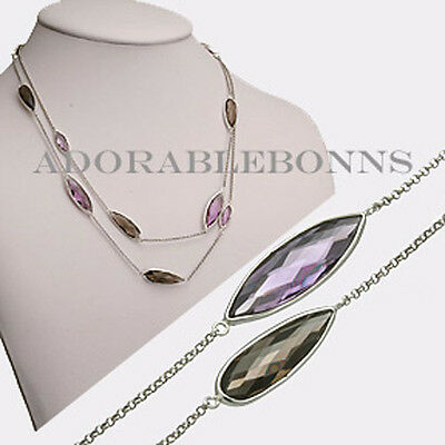 Authentic Lori Bonn Sterling Silver Pizzazz Wrap Necklace 511506A