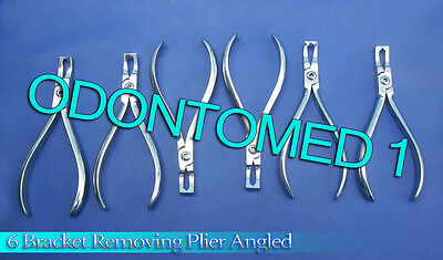 6 Angulated Bracket Remover Plier Orthodontic Instruments