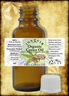 Pure Organic Castor Oil BP 50ml - Cold Pressed