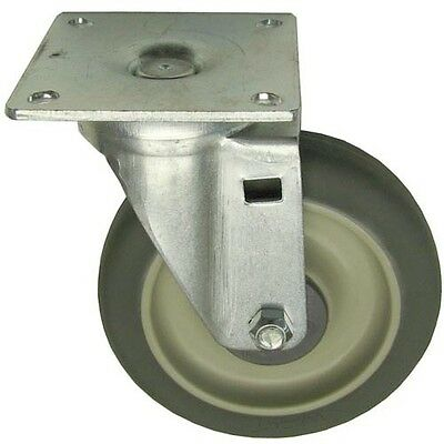 "PLATE MOUNT CASTER 5"" DIA 3-1/2 X 3-1/2 Plate for Vulcan Hart 410118-20 262426"