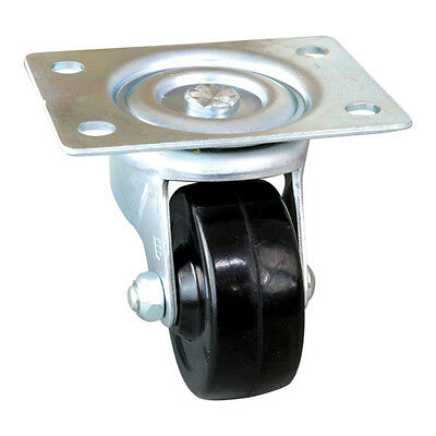 "CASTER PLATE SWIVEL W/O BRAKE 2-1/2"" DIA X 3/4 W Plate Mnt Holds 200 lbs 263336"