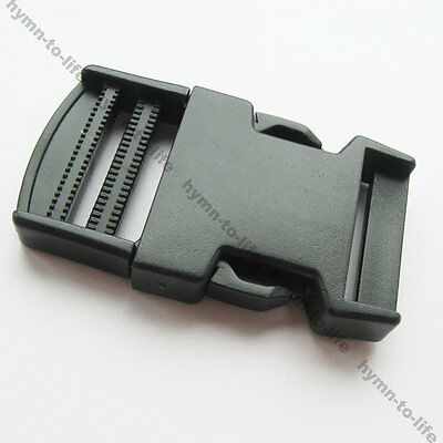 "5/10/50 pcs Black plastic Strong side release Buckle For 1-1/4"" webbing M017-31"