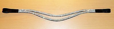 New Designer  * silver * Crystal Browband full Size -16 inches (Black) free p/p