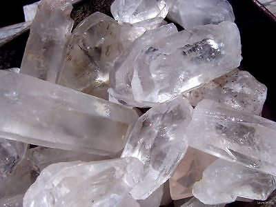 UNSEARCHED NATURAL QUARTZ CRYSTAL POINTS - 2000 CARATS - Chakra Reiki Feng Shui
