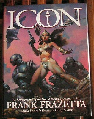 ICON Frazetta artbook EO 1998 + jaquette TBE