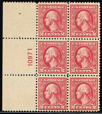#527 Left Side  Pb#10971 1920 2 Cent Type V Offset Issue Mint-Og/Nh-Gum Skip