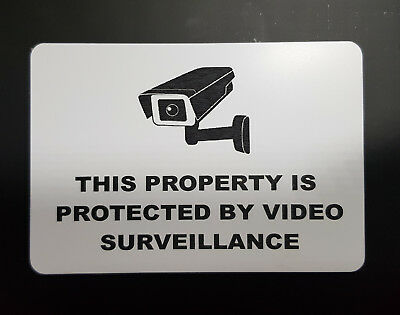 SECURITY WARNING SIGN - VIDEO SURVEILLANCE, CCTV- small - no holes
