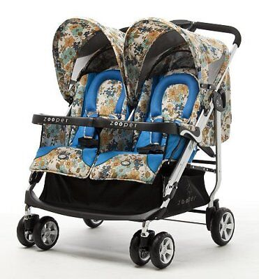 Zooper 2011 Tango Twin Stroller in Mountain Flowers New