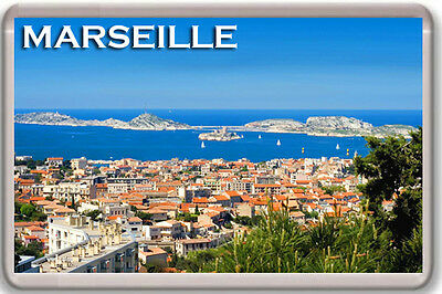 Marseille France Fridge Magnet Souvenir Mod 2 Imán Nevera