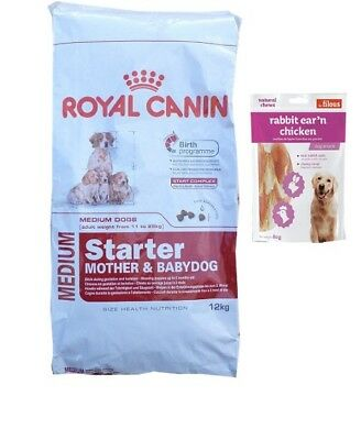 12kg Royal Canin Medium Starter Mother &  Babydog +  80g Fleischsnacks