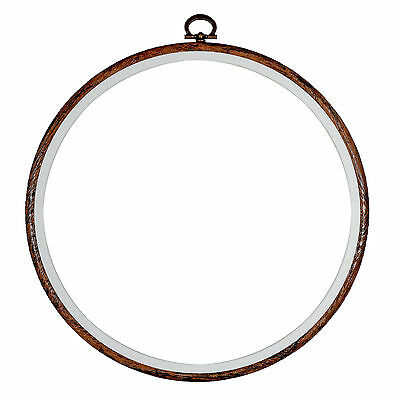 Embroidery Flexi Hoop CrossStitch Sewing Round Plastic Frame Free Postage 8 inch