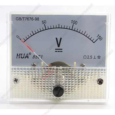 1 × DC 150V Analog Panel Volt Voltage Meter Voltmeter Gauge 85C1 White 0-150V DC