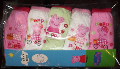 PEPPA PIG GIRLS 5 pack knickers - sizes 2 -3 & 3 - 4 - new PEPPA PIG
