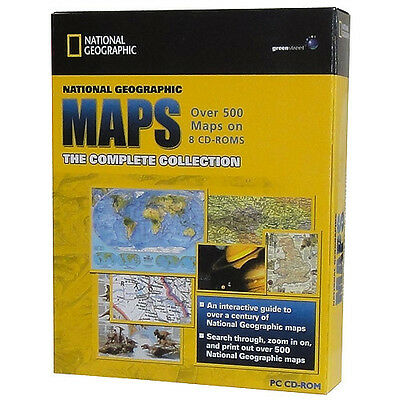 National Geographic Maps Complete Collection 500 Maps 8Cd Interactive History