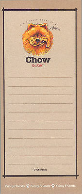 CHOW Red Dog Funny Friends Magnetic NOTEPAD List Pad