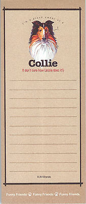 COLLIE Lassie Dog Funny Friends Magnetic NOTEPAD List Pad