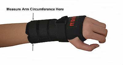 Wrist Support w/ Splint - Carpal Tunnel Brace - Adult & Kids - 9 Sizes - L or R