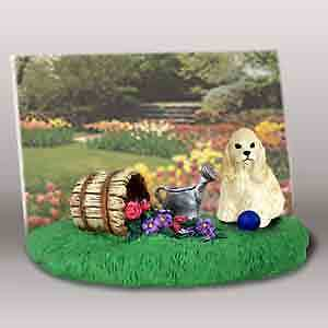 Cocker Spaniel by Flowers Dog Resin Picture Photo Frame