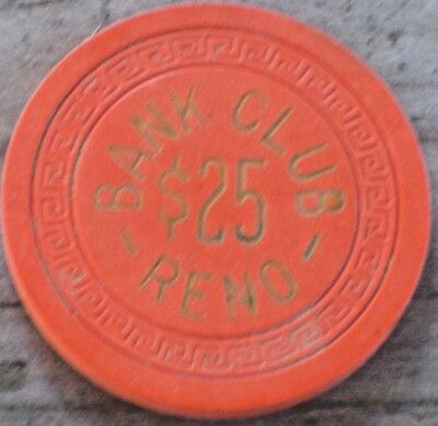 $25 6th EDT CHIP FROM THE BANK CLUB CASINO RENO NV
