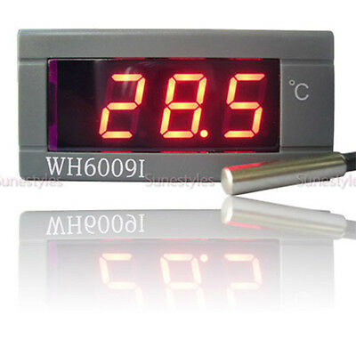 New Digital LCD Thermometer Temperature Auto Car Meter Gauge With Probe DC 12V