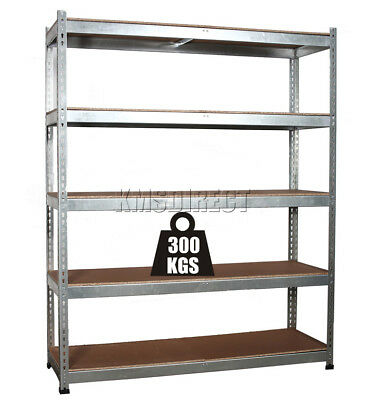 5 Tier Boltless Galvanised Heavy Duty Garage Storage Shelving Unit Racking x 1