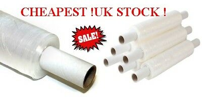 1 6 12 18 24 x  STRONG EXTENDED CORE CLEAR PALLET STRETCH WRAP 400mm 250m 300m
