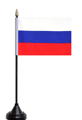 Russian Federation Russia Polyester Table Desk Flag