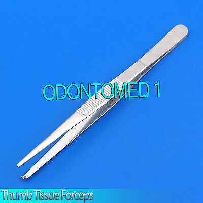 """3 Thumb Rat Tooth Tissue Forceps 1x2t 5.5"""" Surgical Instruments"""