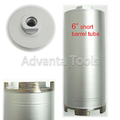 "3"" Dry Diamond Core Drill Bit for Concrete Masonry - Short Barrel Tube"