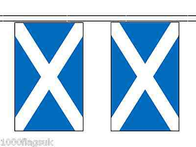 Scotland St Andrews Saltire Polyester Flag Bunting - 6m long with 20 Flags