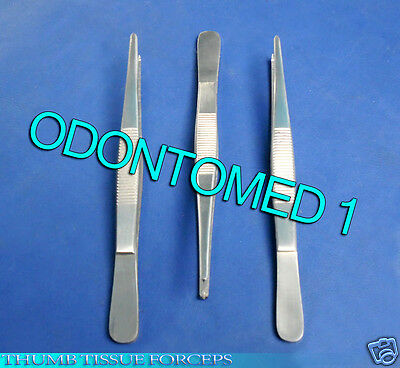 "6 Thumb Rat Tooth Tissue Forceps 1x2 Teeth 7"" Surgical Instruments"