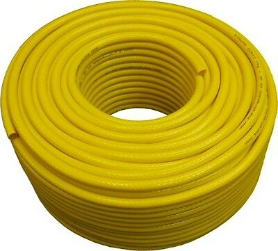 100 Metre Coil of Yellow Microbore Reinforced Hose, 6mm id / 11mm od