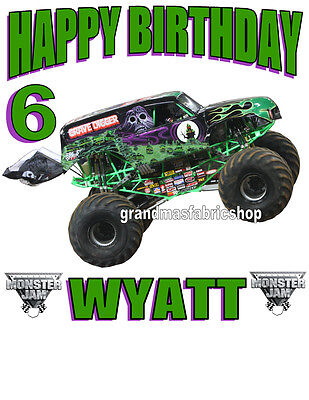 Grave Digger Monster Truck Personalized Birthday Shirt Add Name & Age