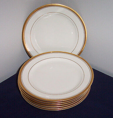 7 Lot Pattern Old Colony By Syracuse China Bread & Butter Plates Gold Trim