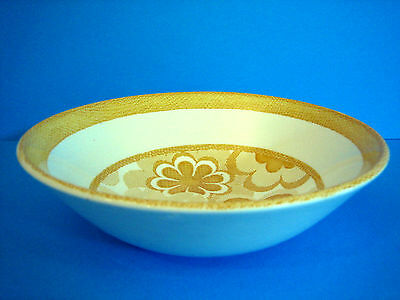 Cereal Bowl J&G Meakin England Nouveau Country Delft retro flowers Yellow 70's