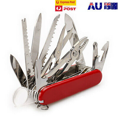 Multifunctional Camping Knife Outdoor Survival Folding Tactical Knife Red 1PC