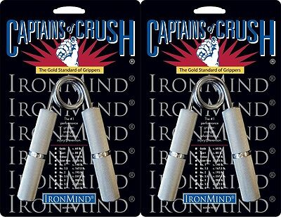 2 Ironmind Captains of Crush CoC Hand Gripper 167.5lb No1.5/195lb no2 Grippers