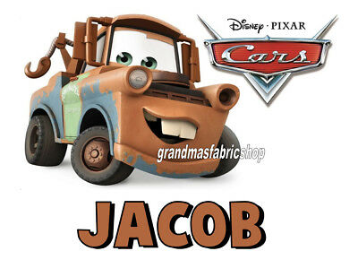Cars Mater New Custom Personalized T Shirt Party Favor Birthday Gift Add Name