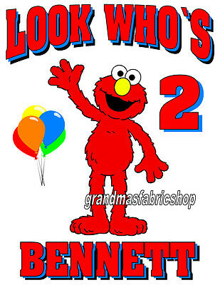 New Elmo Custom Personalized Birthday T Shirt #2 party favor gift Add Name & Age