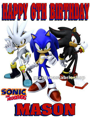 New Sonic The Hedgehog Shadow Personalized Birthday T Shirt Add Name & Age