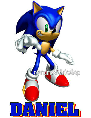 New Sonic the Hedgehog Personalized custom T Shirt Party Favor Birthday Gift
